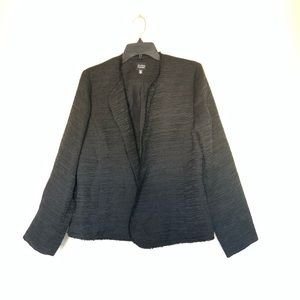 Eileen Fisher Black Shimmer Open front  Jacket